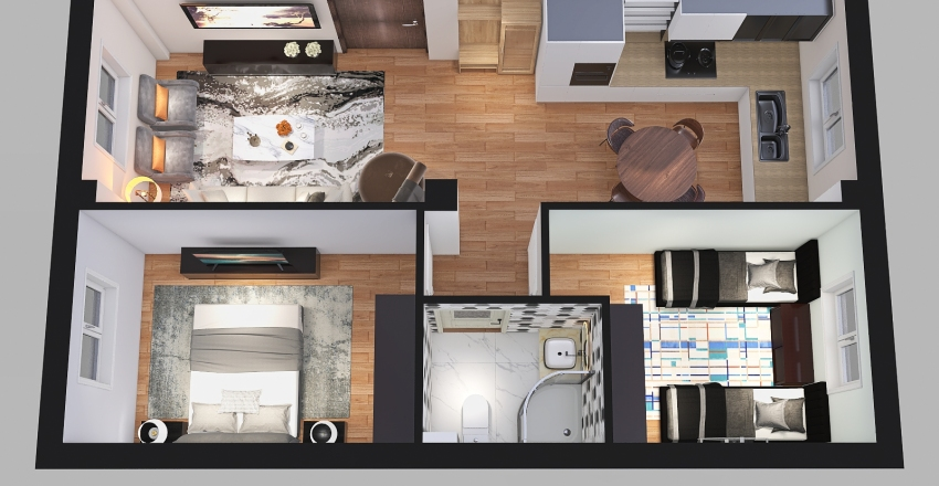 HAMZA Interior Design Render