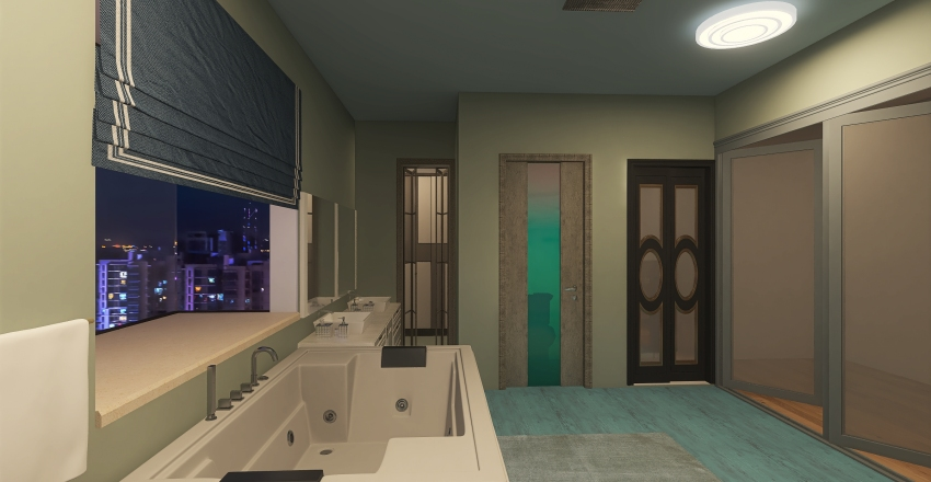 Dream Bathroom Interior Design Render