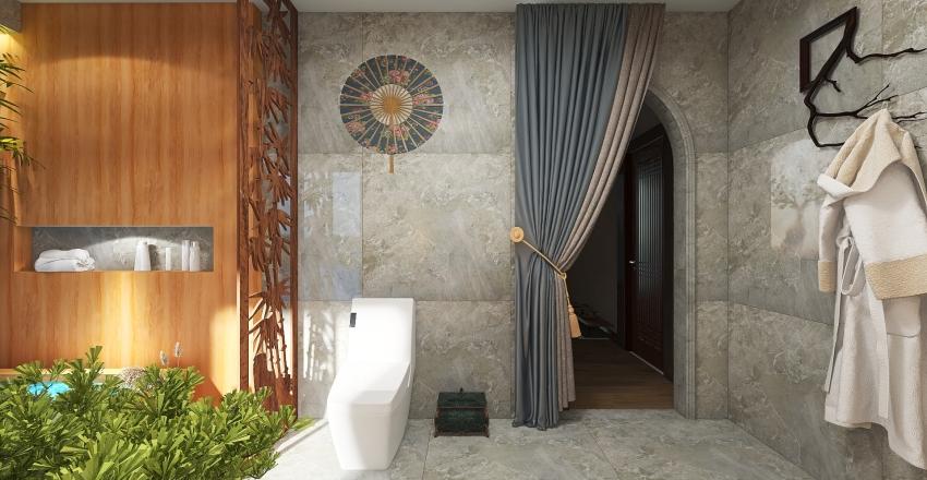 Zen Bathroom Interior Design Render