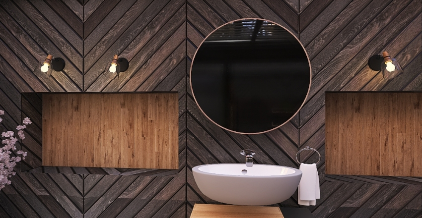 Forest Bathroom Interior Design Render