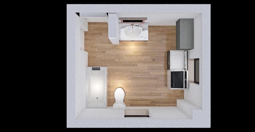 Original Bathroom Interior Design Render
