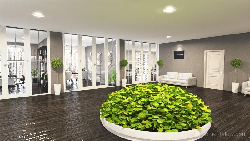 Projekt budynku Interior Design Render