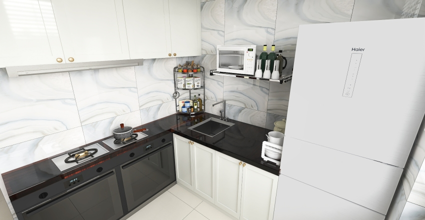Simple Flat in Sao paulo, Brazil Interior Design Render