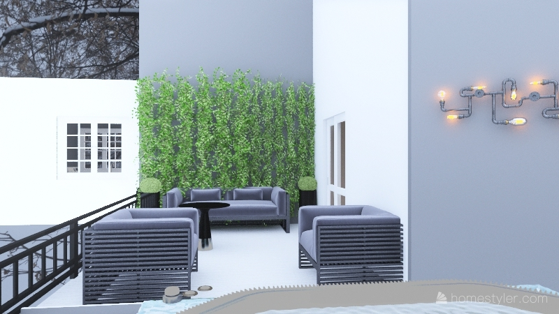 Ski House Interior Design Render