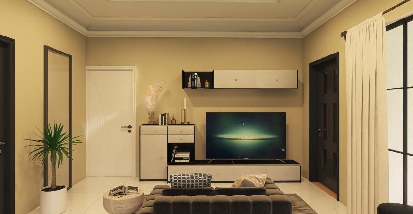 B2 Floor Plan Interior Design Render