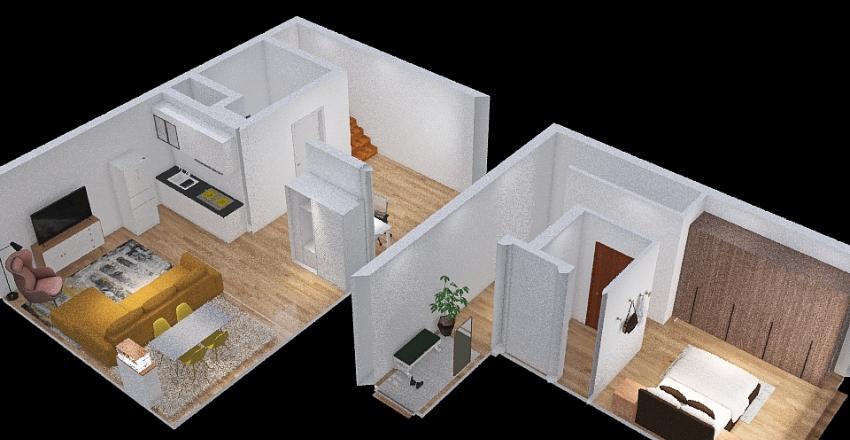 line kitchen Interior Design Render