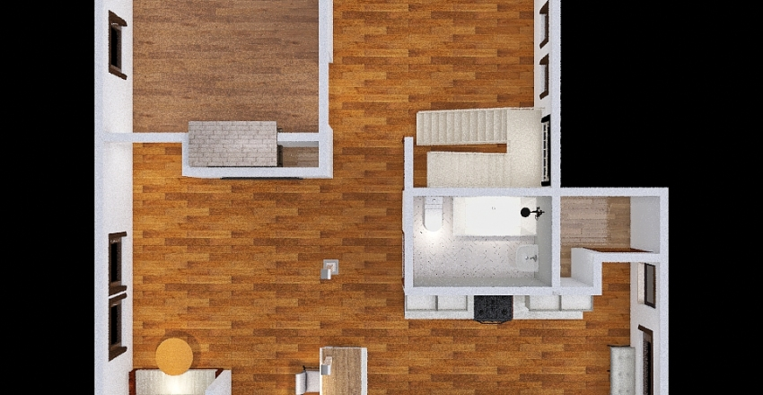 two LBWs Interior Design Render