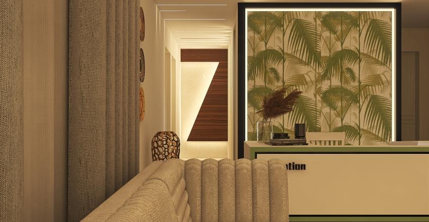 Clinic Reception Interior Design Render