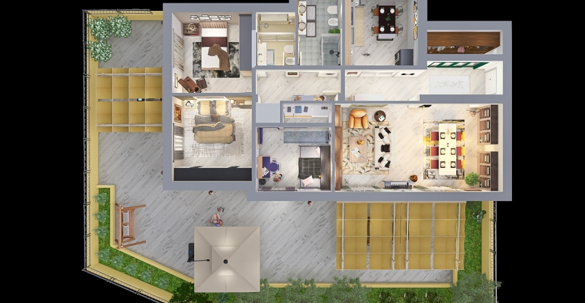 Copy of Restylin appartamento Interior Design Render