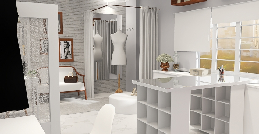Atelier de Noivas Dilma Nogueira Interior Design Render
