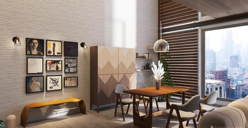 #HSDA2020Residential Loft Interior Design Render