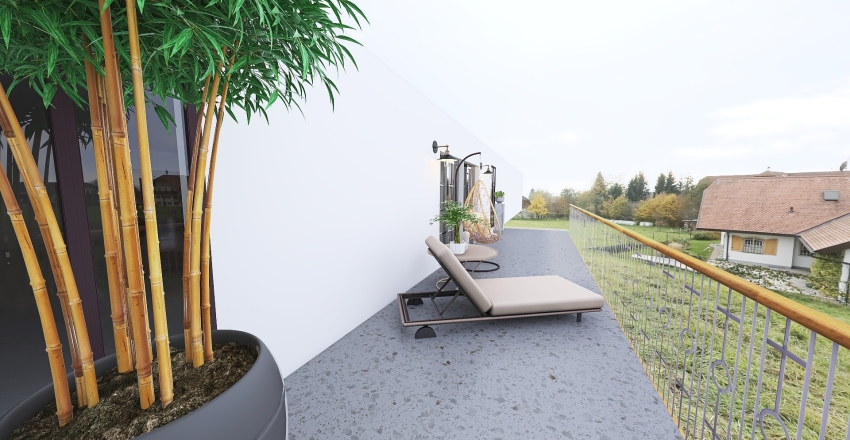 Single-Storey House for a family of 3 Interior Design Render