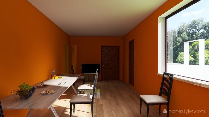 The house of Jesus Hernandez Interior Design Render