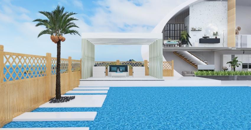 aquamarine villa Interior Design Render