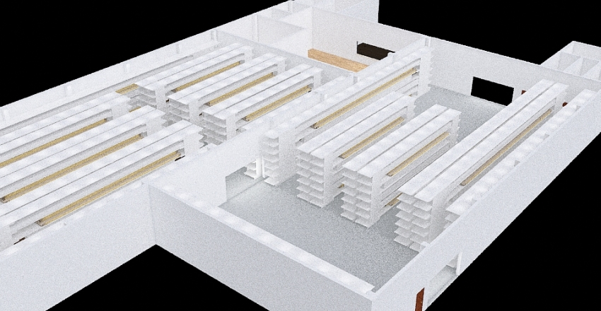 Traffi Warehouse Option 2 - 2.5 m aisles Interior Design Render