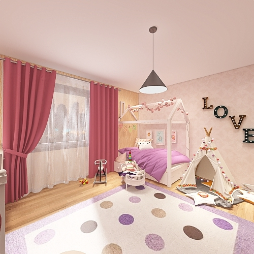 baby room 1 Interior Design Render