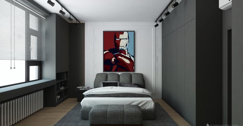 bedroom by kkajaia design Interior Design Render