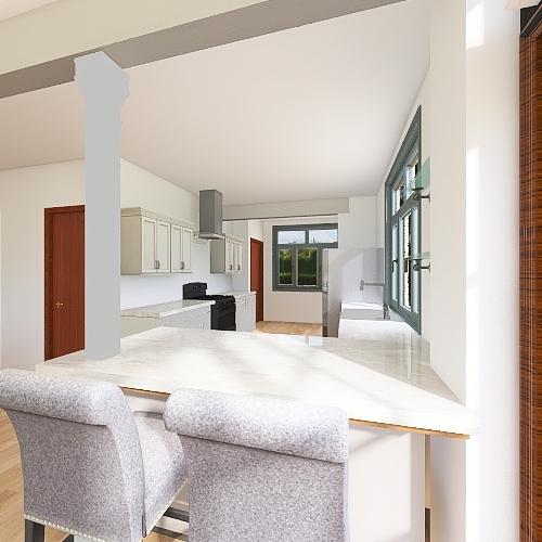Small Island Interior Design Render