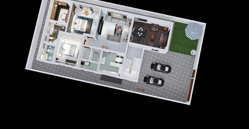 18 M 4 car + Store Interior Design Render