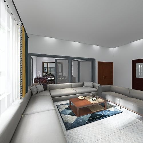 Big lobby 18 M 4 car + Store Interior Design Render