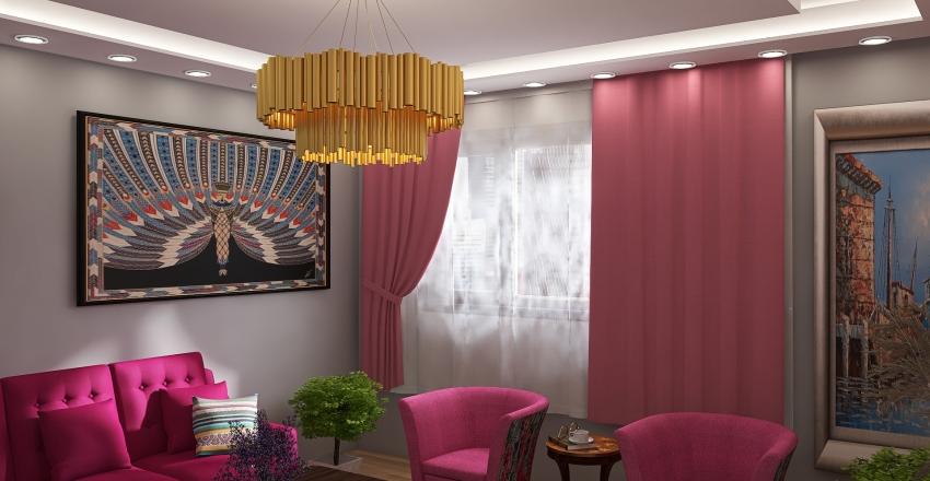 غرفة ضيافة نساء Interior Design Render
