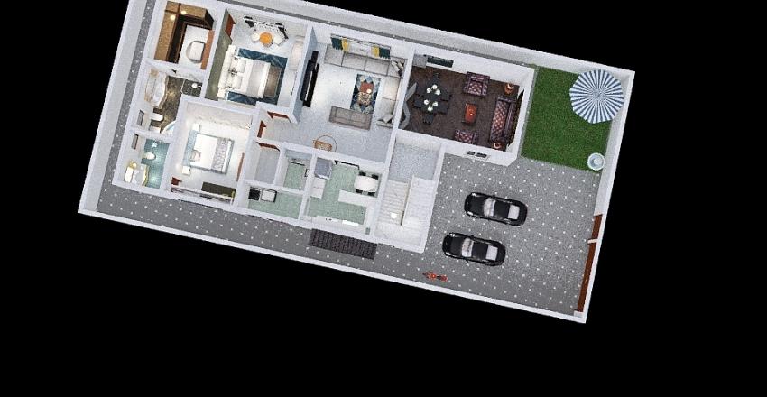 1st flr 18 M 4 car + Store Interior Design Render