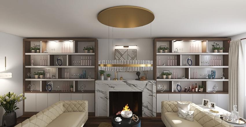 NYIAD living room Interior Design Render
