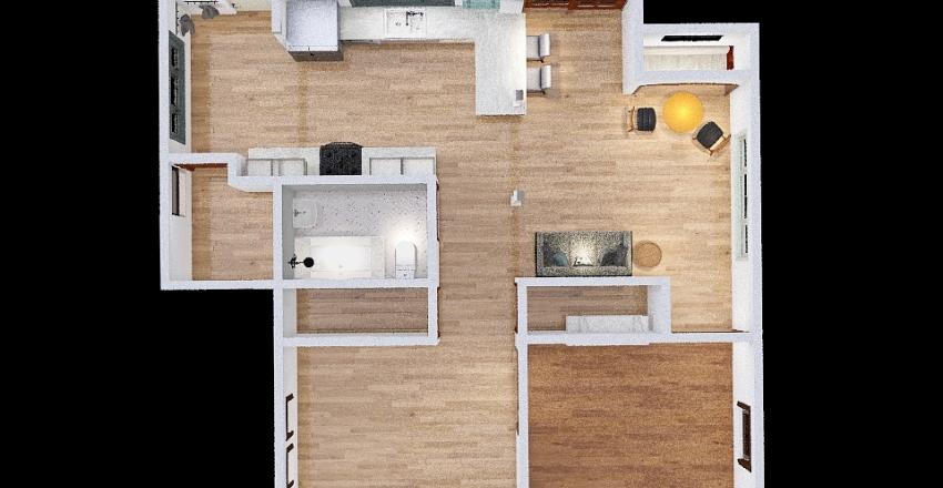 Stove in Sliders Interior Design Render