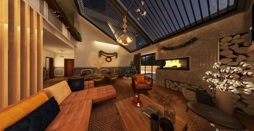 #HSDA2020Residential Christmas into cozy Home Interior Design Render