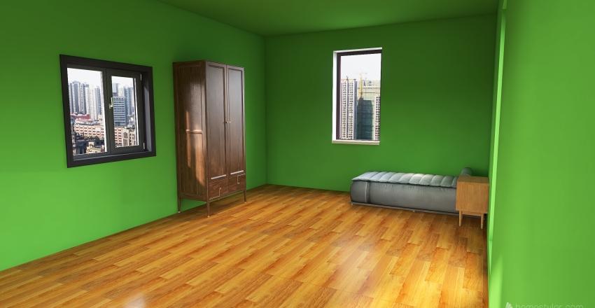Yoni's Bedroom Interior Design Render