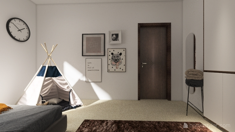 Little girl room Interior Design Render