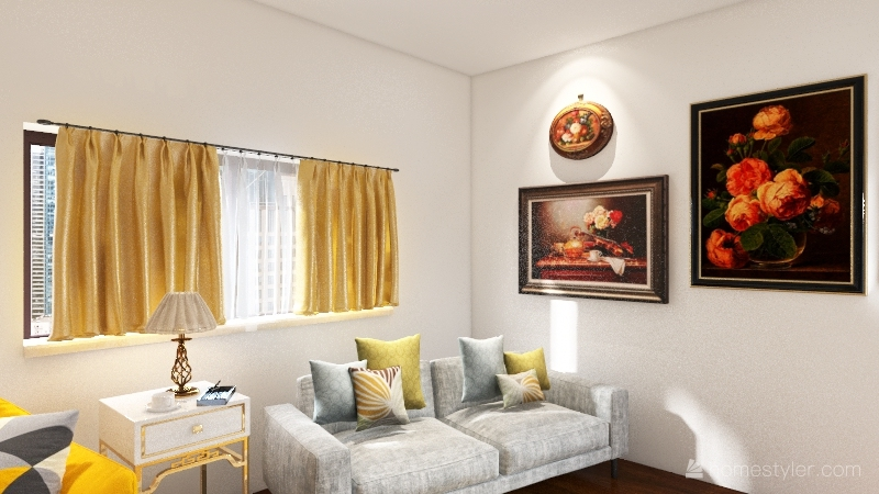 Cozy Room Interior Design Render