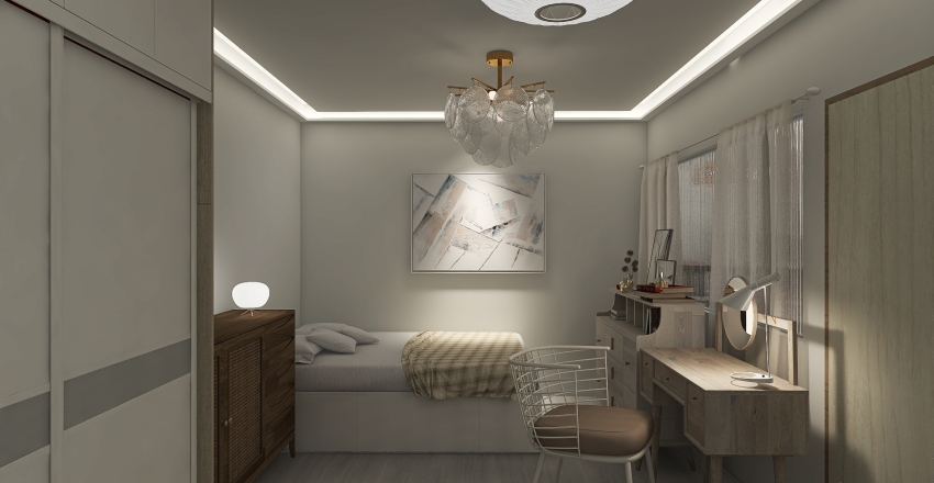 White Lo-Fi House Interior Design Render