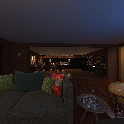 Cabin In The Woods_copy Interior Design Render