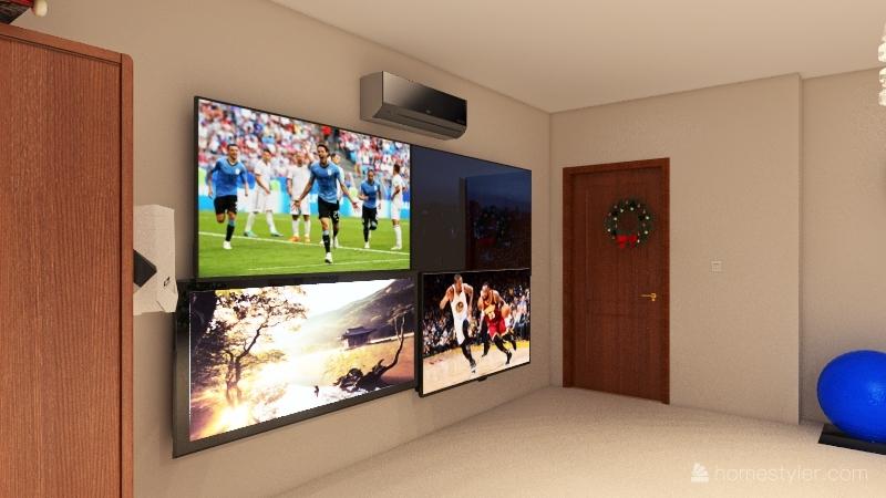 Gus's bedroom Interior Design Render