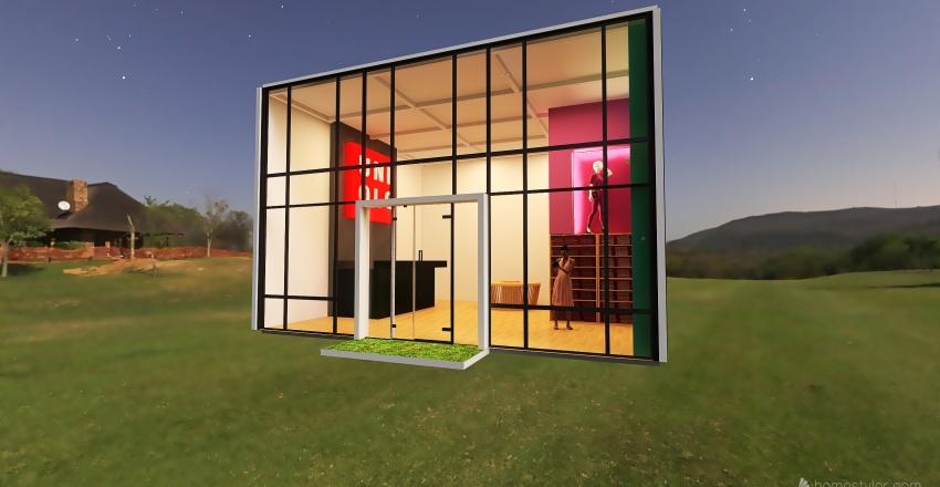 Pop up store Interior Design Render