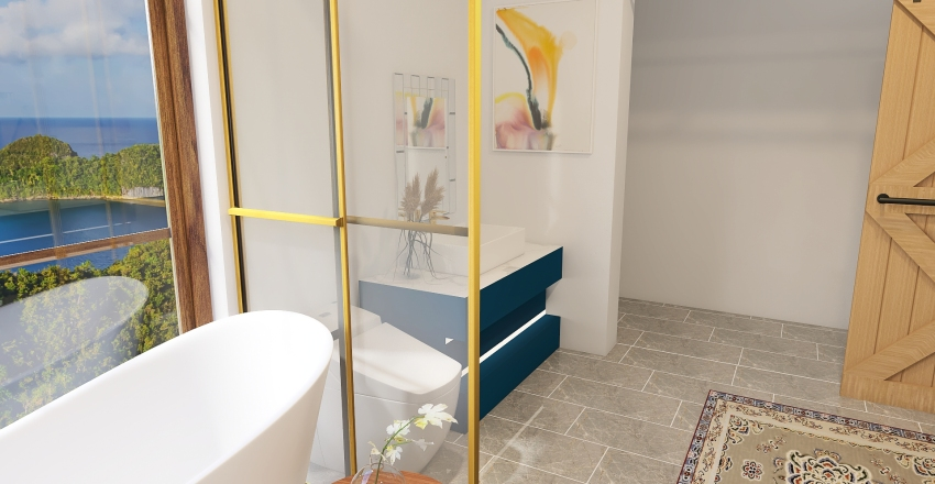 O & K Bathroom Interior Design Render