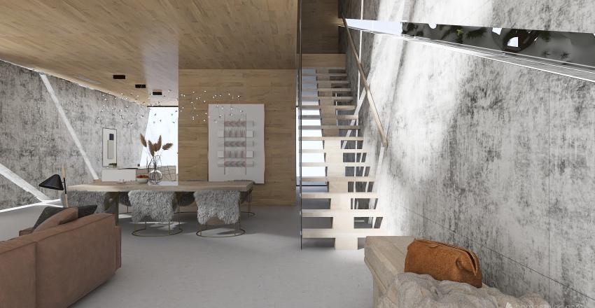 "#HSDA2020Residential""The house on the frozen lake"" Interior Design Render"