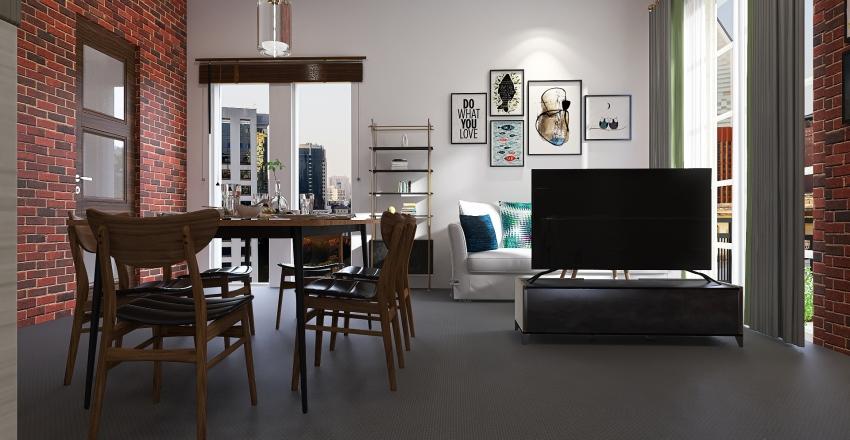 Urban Cafe Interior Design Render