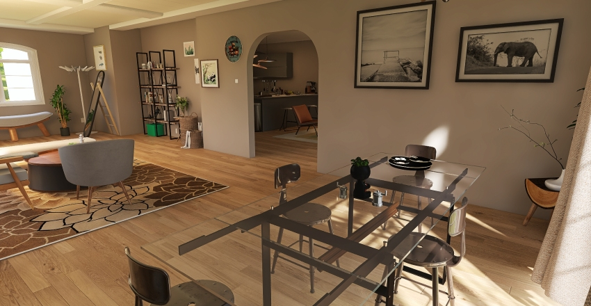 small modern chic home Interior Design Render