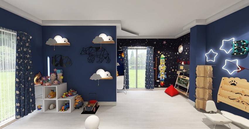 kidsroom/room for gym/bathroom Interior Design Render