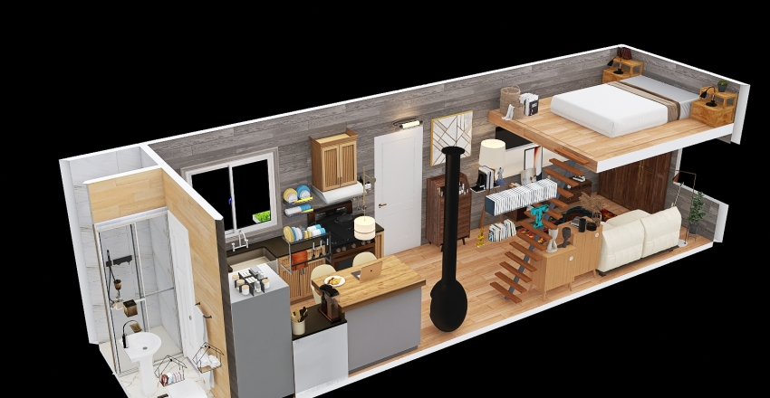 Nelson- Tiny House Interior Design Render
