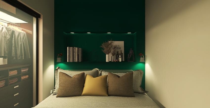 Bilocale via Alessandro Volta, Capalle Interior Design Render