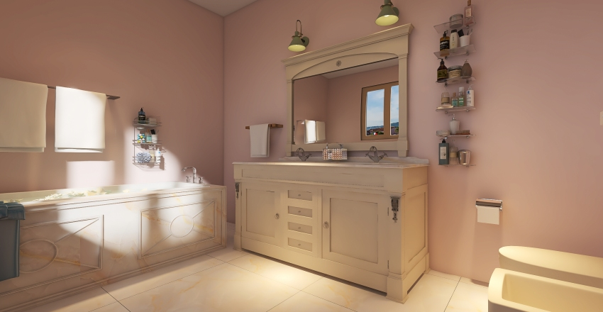 One bed-house Interior Design Render