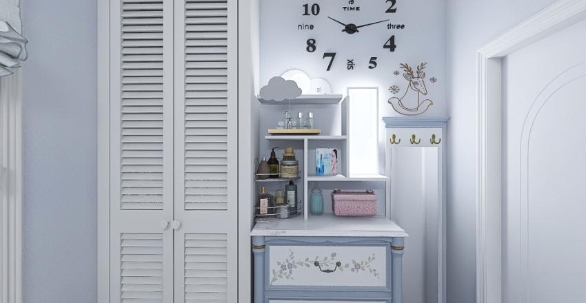 Modern Farm Tiny House Interior Design Render