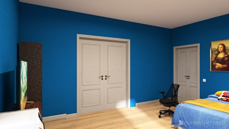 CJs fire bedroom Interior Design Render