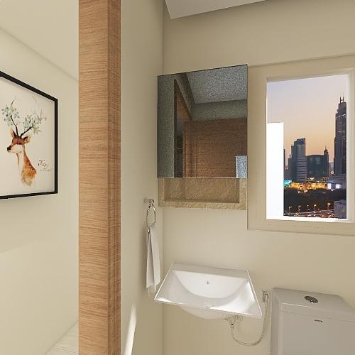 2 BHK, Pyramid Urban Homes Interior Design Render
