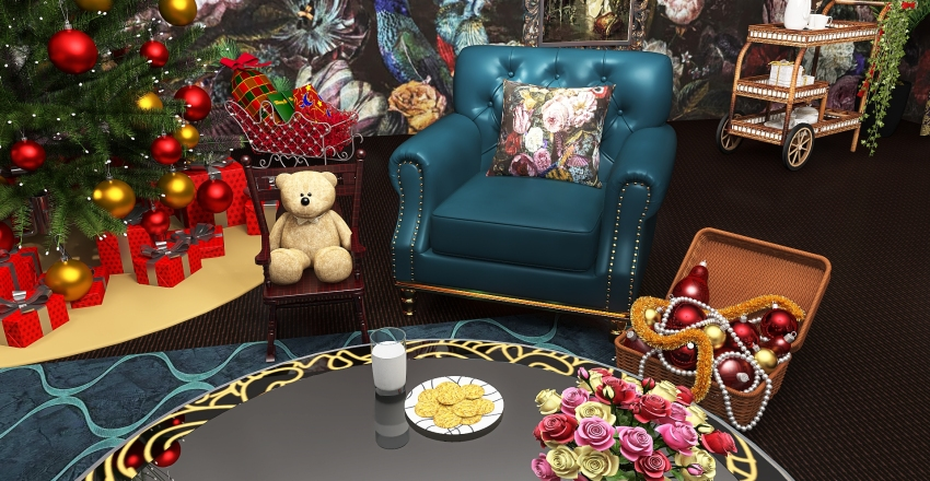 Christmas with Mom and Dad Interior Design Render
