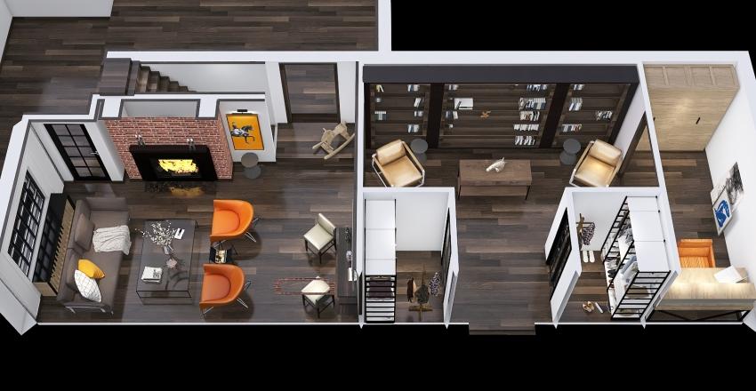 apple cottage modern ceiling second option Interior Design Render