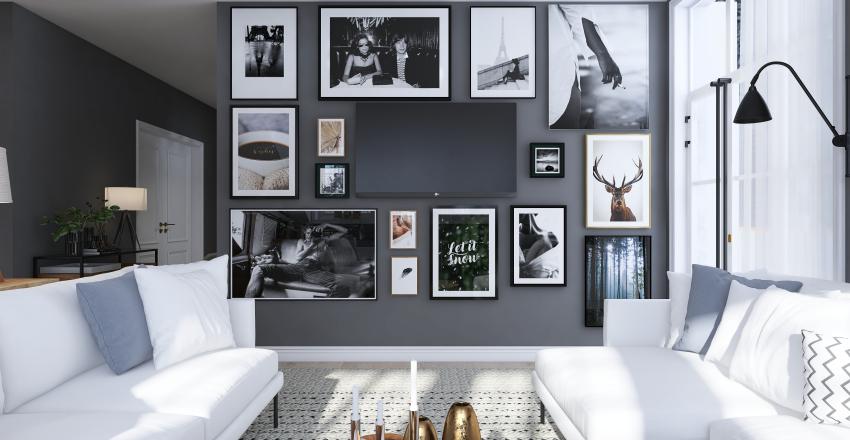 A COCOON IN WINTER Interior Design Render